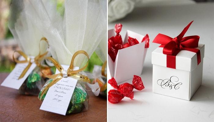 Подарки сувениры гостям на свадьбу