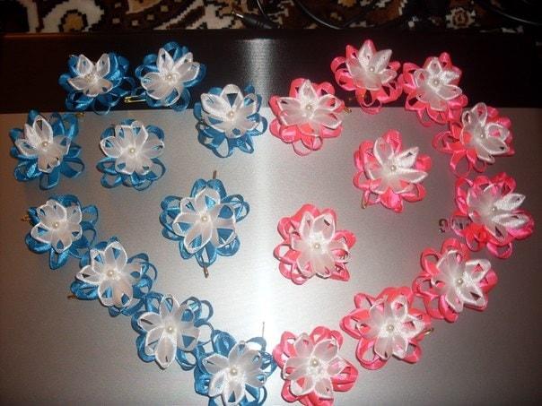 Как сделать цветочки на свадьбу