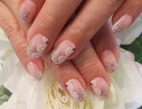 Фото свадебные ногти кружевные